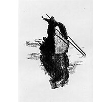 Fisherman with net. Photographic Print