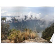 Grose Valley Mist - Anvil Rock NSW Australia Poster