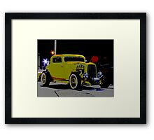 Yellow Hot Rod Poster Framed Print