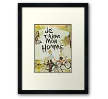 Je T'aime Mon Homme Framed Print