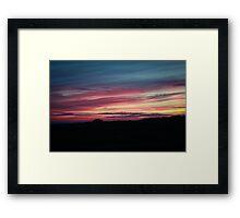 Shepherd's Delight Sunset Framed Print