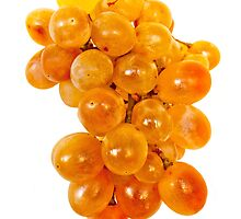 Ripe yellow grape in isolated by IKGM