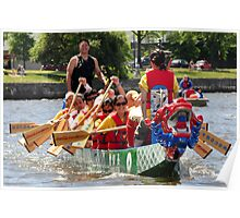 Dragon Boat Race Plate # 0107 Poster