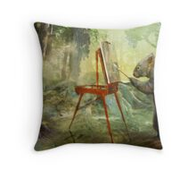 The Landscape Artist Throw Pillow
