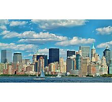 Downtown New York City Skyline Cityscape. Photographic Print