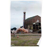 Colwick Sugar Beet Factory Chimney Demolition Poster
