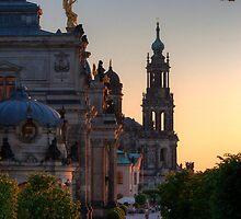 Looking over Brühlsche Terrasse, Dresden by Danya Rose