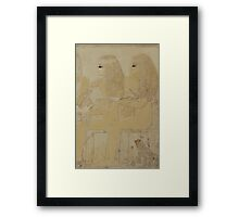 Ancient Egyptian couple Framed Print