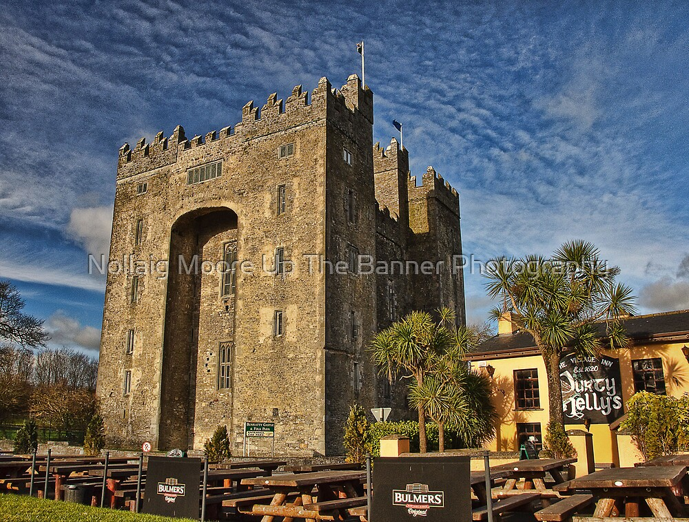 Bunratty Castle and Durty Nellys Pub, County Clare, Ireland by Noel Moore Up The Banner Photography