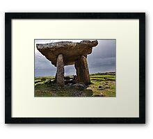 Dolmen, The Burren, County Clare, Ireland Framed Print