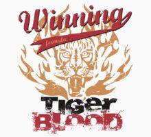Winning Formula - Tiger Blood - Orange Tiger by wittytees