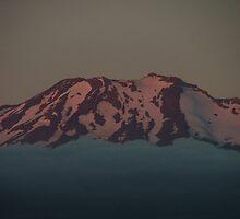 Mt Ruapehu sunset - detail by orkology