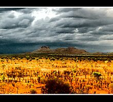 storm over the desert plains  by isobar
