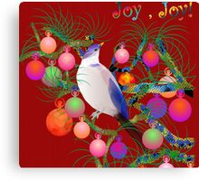 bird in christmas  Canvas Print