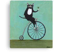 Lucky on a Bike Canvas Print