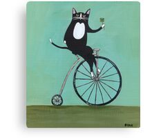Lucky on a Bike Canvas Print