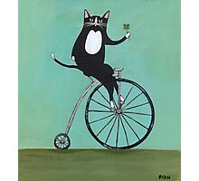 Lucky on a Bike Photographic Print