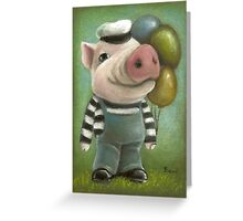 Jonathan the pig Greeting Card