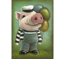 Jonathan the pig Photographic Print