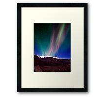 Northernlights dancing in Iceland. Framed Print