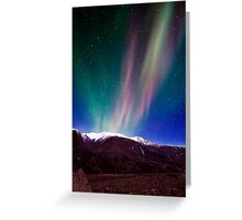 Northernlights dancing in Iceland. Greeting Card