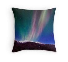 Northernlights dancing in Iceland. Throw Pillow
