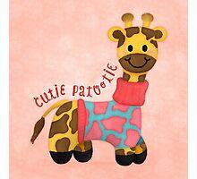 Cutie Patootie Giraffe Photographic Print
