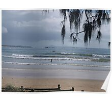 Breakfast at Woolgoolga Beach Poster