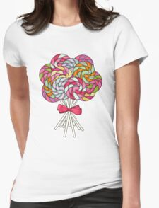 Terribly Tempting Lollipops Womens Fitted T-Shirt