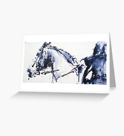 Dressage No.4 Greeting Card