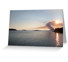 Scarriff Island, Heathland Burning,  Greeting Card