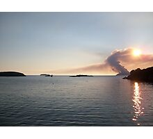 Scarriff Island, Heathland Burning,  Photographic Print