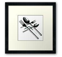 Crossing Cutlery Framed Print