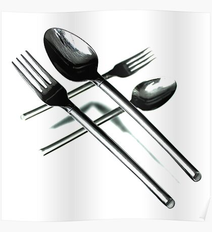 Crossing Cutlery Poster