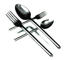 Crossing Cutlery Photographic Print