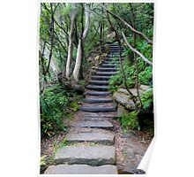 Stone Stair Sonnet - Wentworth Falls Blue Mountains Poster