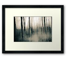 Turmoil surrounds us - an abstract expressionism Framed Print