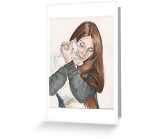 Charlotte And Fleur Greeting Card