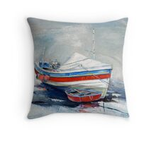Pilot Me B and Ferry Boat Throw Pillow