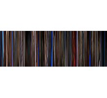 Moviebarcode: Three Colours: Blue (1993) Photographic Print