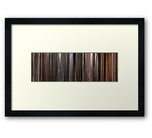 Moviebarcode: Three Colours: White (1994) Framed Print