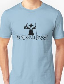 Gandalf You Shall Pass LOTR Lord Of The Rings Unisex T-Shirt