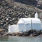 "Church By The Sea - Santorini by Christine ""Xine"" Segalas"