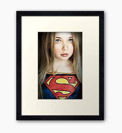 SUPER GIRL!!! Framed Print