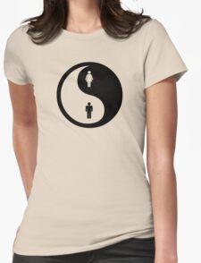 Yin Yang Man Woman Womens Fitted T-Shirt