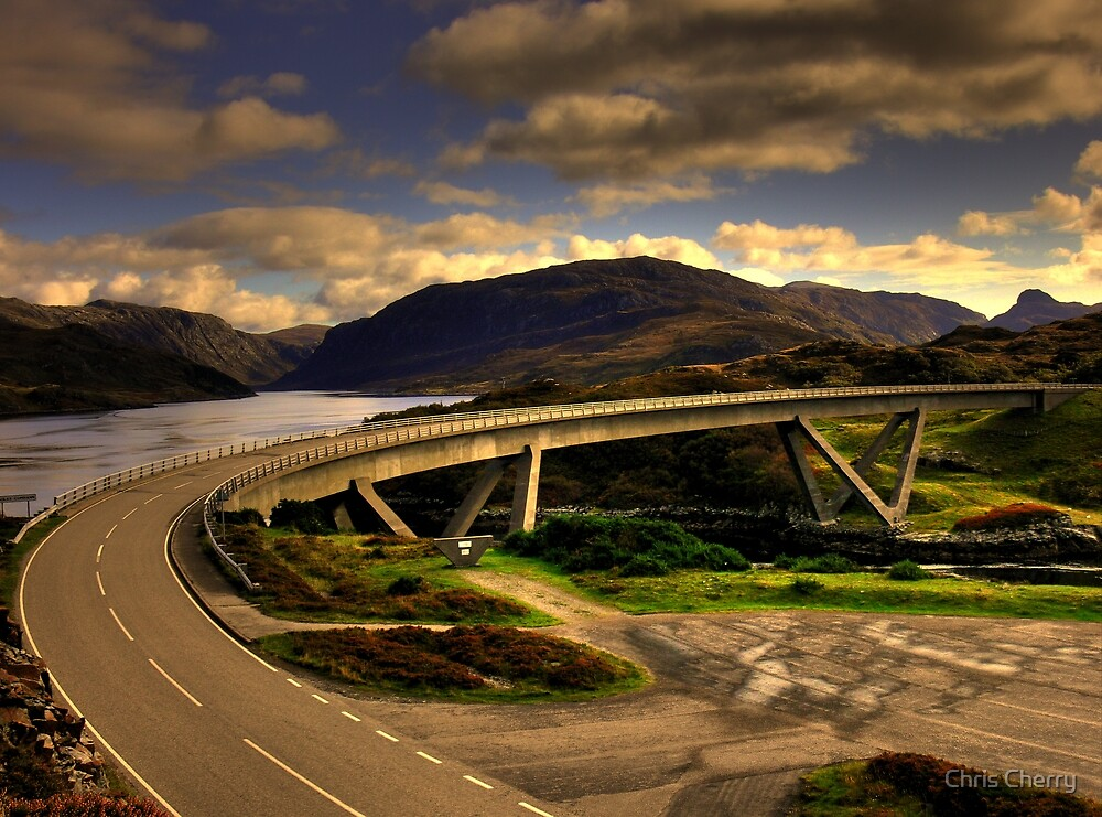 Kylesku Bridge - HDR by Chris Cherry
