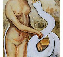 Leda and the Swan Photographic Print