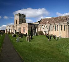 Church at Bamburgh, on a sunny day by Harry Purves