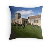 Church at Bamburgh, on a sunny day Throw Pillow