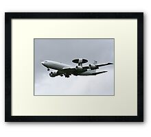 AWACS, military flying hardware Framed Print